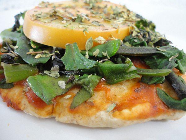 Pizza Integral de Espinafre Vegana
